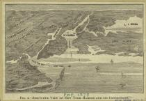 new york harbor etching
